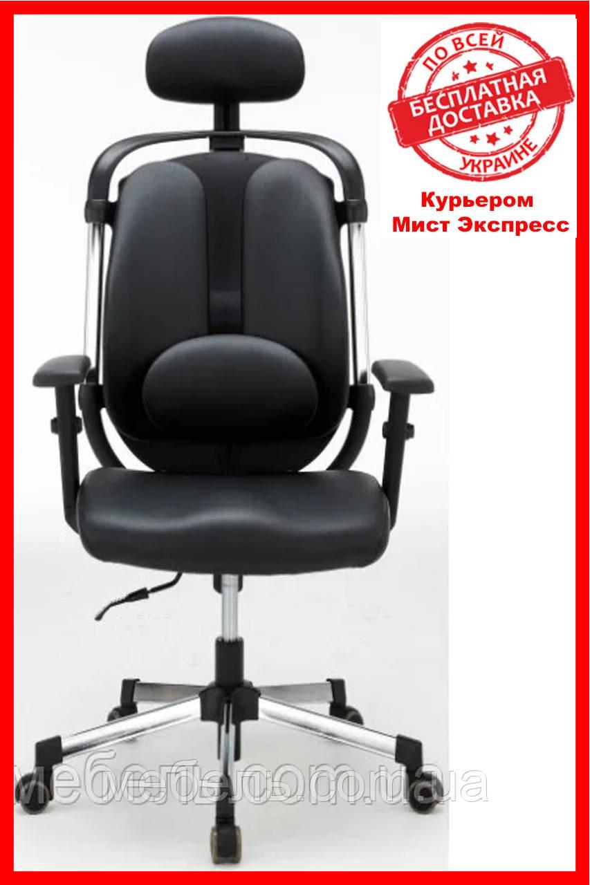 Компьютерное детское кресло Barsky ER-01 Ergonomic black, кресло из ткани
