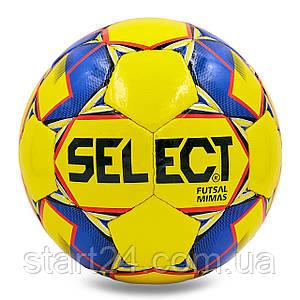 М'яч для футзалу №4 ламін. ST MIMAS ST-8149 (5 сл., зшитий вручну) (жовтий-синій)