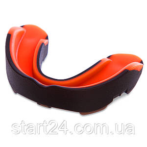 Капа боксерская односторонняя (одночелюстная) двухкомпонентная в футляре Zelart BO-0062 (термопластик, цвета в