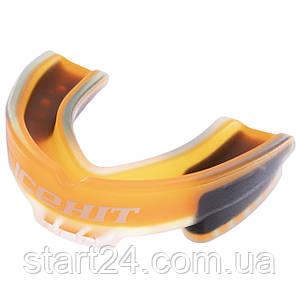 Капа боксерська ароматизована одностороння (одночелюстная) у футлярі ICE HIT Апельсин BO-0064-L