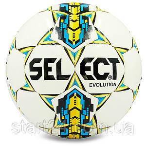Мяч футбольный №4 PU ламин. ST EVOLUTION ST-8254 белый-синий-желтый (№4, 5 сл., сшит вручную)