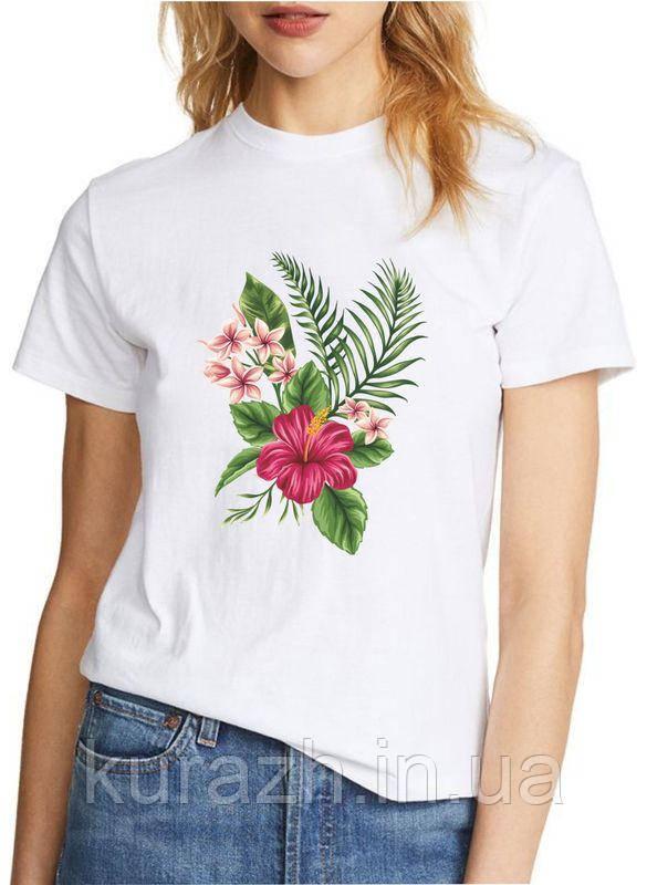 Женская футболка с принтом екзотика