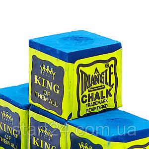Мел для бильярда (уп. 144шт) TRIANGLE KS-1809 (синий, цена за 1шт) ориг.