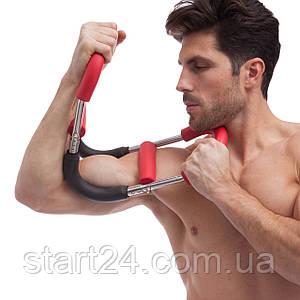 Эспандер многофункц. FI-2985 Flex Shaper (металл, неопрен, р-р 63x17см, красный-черный)