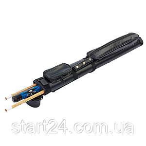 Футляр для кия-тубус KS-371 (р-р 80x9x5см, PVC, полиэстер, черный)