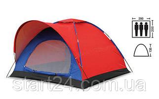 Палатка универсальная 3-х местная SY-010 (р-р 2х2х1,35м, PL)