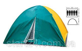 Палатка кемпінгові 6-місна з тентом SY-021 (р-р 2,2х2,5х1,5м, PL)