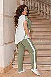 Жіночий брючний костюм двійка блуза і брюки тканина котон жатка розмір: 50-52,54-56,58-60, фото 2
