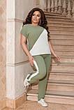 Жіночий брючний костюм двійка блуза і брюки тканина котон жатка розмір: 50-52,54-56,58-60, фото 3
