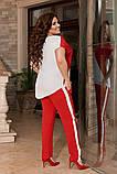 Жіночий брючний костюм двійка блуза і брюки тканина котон жатка розмір: 50-52,54-56,58-60, фото 6