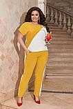 Жіночий брючний костюм двійка блуза і брюки тканина котон жатка розмір: 50-52,54-56,58-60, фото 8