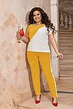 Жіночий брючний костюм двійка блуза і брюки тканина котон жатка розмір: 50-52,54-56,58-60, фото 9