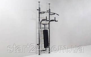 Шведская стенка с турником, брусьями, скамьей для пресса и спины Energy L-4016 (СТЭ) (металл, 108х217х40 см)