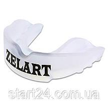 Капа боксерская односторонняя (одночелюстная) в футляре Zelart BO-3604-L (термопластик, р-р L, цвета в, фото 2