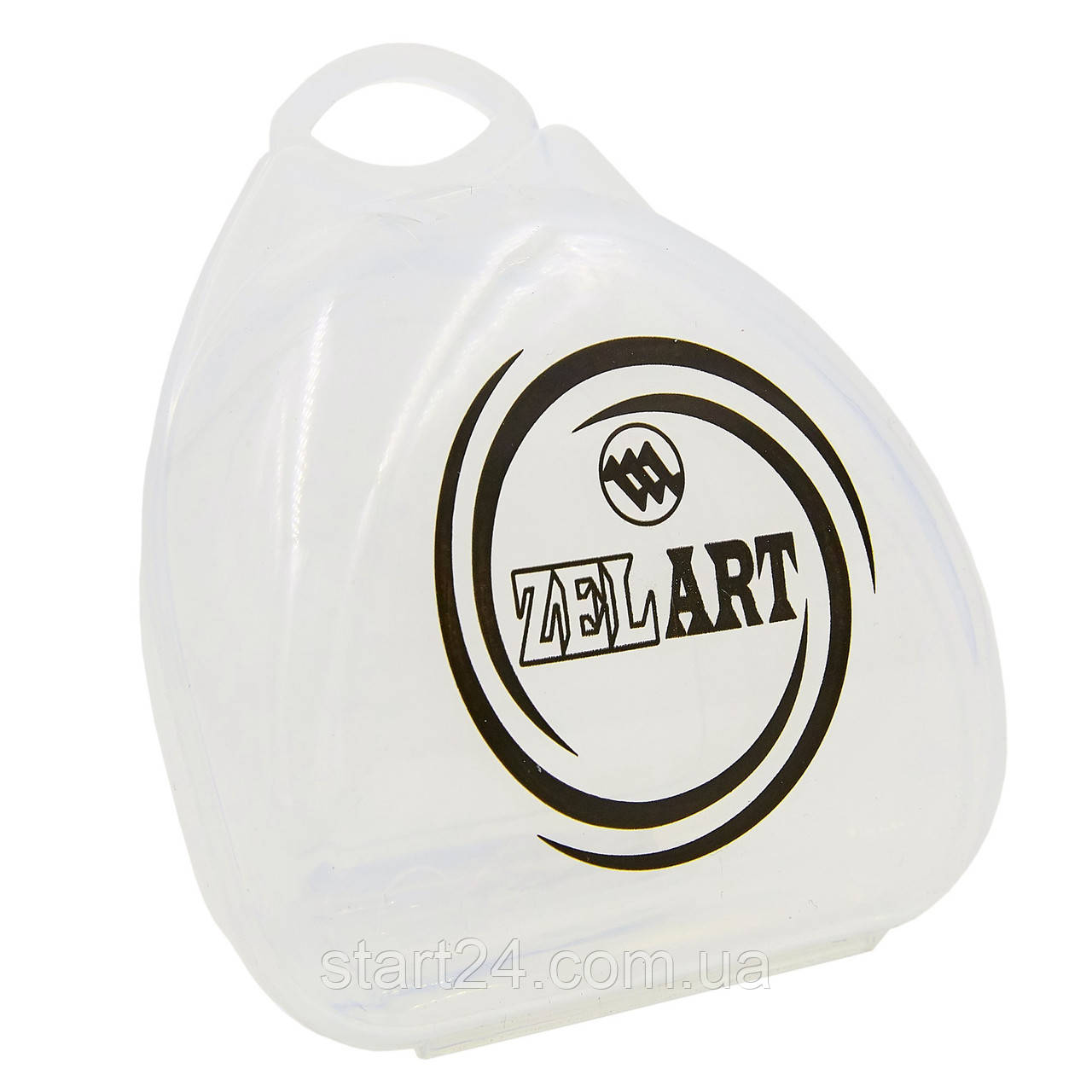 Футляр для боксерской капы Zelart BO-4278 (полипропилен, синий, желтый, прозрачный)