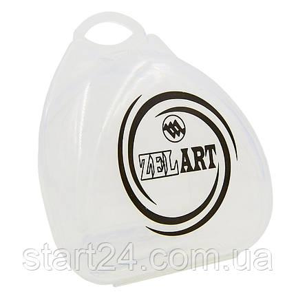 Футляр для боксерской капы Zelart BO-4278 (полипропилен, синий, желтый, прозрачный), фото 2