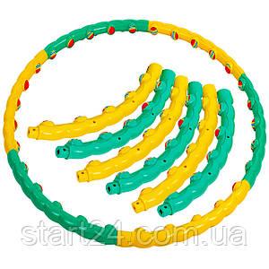 Обруч массажный Хула Хуп SP-Planeta Hula Hoop COLOR BALL FI-358 (пластик, 1,5кг, 6 секций, d-90см)