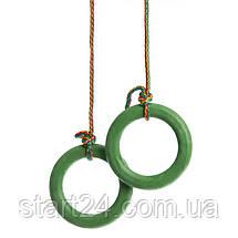 Навесной набор для шведской стенки L-4055 (кольца, канат,веревочная лестница), фото 2