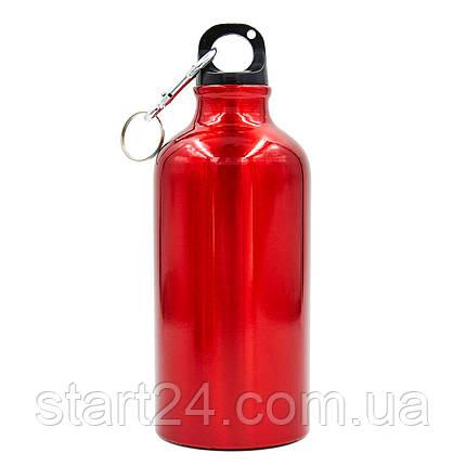 Бутылка для воды алюминиевая с карабином SP-Planeta 500 мл L-500 (цвета в ассортименте), фото 2