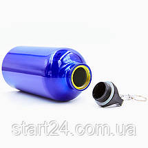 Бутылка для воды алюминиевая с карабином SP-Planeta 500 мл L-500 (цвета в ассортименте), фото 3