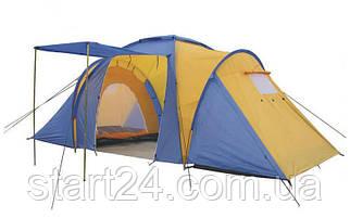 Палатка кемпінгові 4-х місць 2-х кімн з тентом і тамбуром FAMILY SY-100804 (2,1 x(1,4+1,7+1,4)х1,7м)