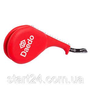 Ракетка для тхэквондо двойная WTF, MTO, DADO BO-4511 (PVC, наполнитель-пенополиуретан, цвета в ассортименте)