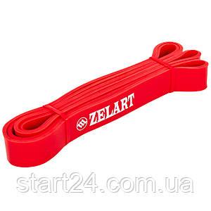 Резина для подтягиваний (лента силовая) FI-3917-R POWER BANDS (размер 2080x28x4,5мм, жесткость S, красный)
