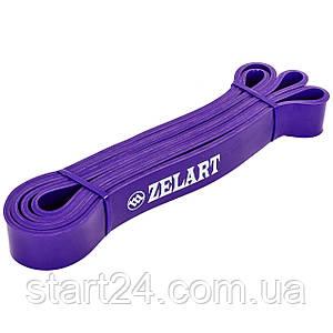 Резина для подтягиваний (лента силовая) FI-3917-V POWER BANDS (размер 2080x32x4,5мм, жесткость М, фиолетовый)