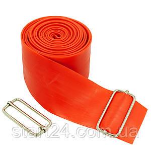 Еластичний джгут спортивний, стрічка джгут VooDoo Floss Band FI-3934-2_5 (латекс,l-2,5 м, 5смх2мм, синій,