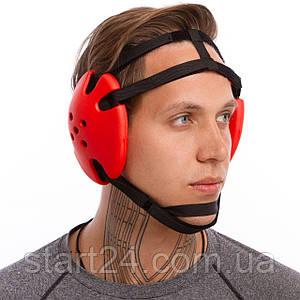 Навушники для боротьби SP-Planeta BO-5647 (EVA, пластик, нейлон, чорний-червоний)
