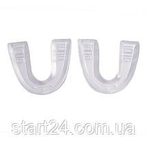 Набор 2 капы боксерские односторонние в пластиковом футляре BO-5907-2401 FOX 40 MASTER (термопластик, черный,, фото 3
