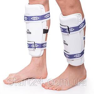 Защита голени для тхэквондо DADO BO-6314-W (PU, р-р S-XL, крепление резиновая лента, белый)