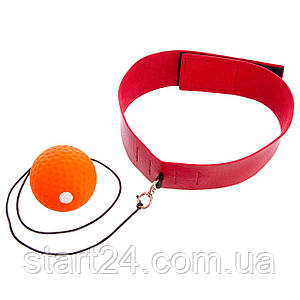 Тренажер для бокса fight ball BO-7108 (пневмотренажер. оранжевый-красный)
