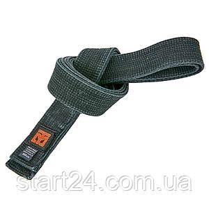 Пояс для кимоно MTO BO-7251 (хлопок, размер 3-8, длина-260-320см, черный)