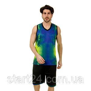Форма баскетбольная мужская Lingo SPACE LD-8007 (PL, размер L-5XL 160-190, цвета в ассортименте)