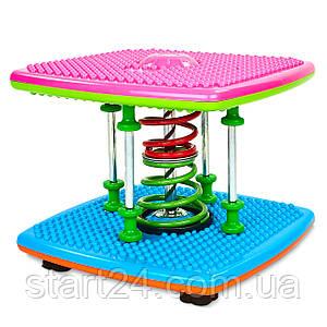 Степпер тренажер Dance Stepper Twist Run FI-4813 (металл, пластик, +DVD, р-р 36x36x28см, разноцветный)