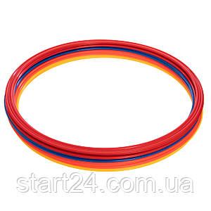 Кольца тренировочные C-0815-50 (пластик, d-50см, в комплекте 12шт., цвета в ассортименте)