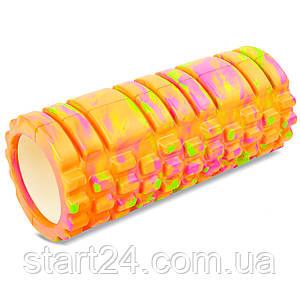 Ролер для занять йогою і пілатесом Grid Combi Roller l-33см мультиколор FI-4940 (d-14,5 см, l-33см, кольори в