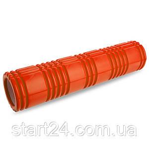 Ролер для занять йогою і пілатесом Grid 3D Roller l-61см FI-4941 (d-14,5 см, l-61см, кольори в асортименті)