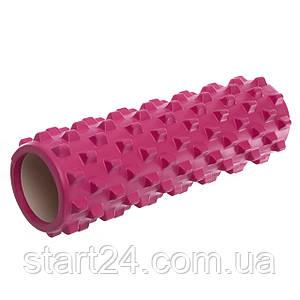 Ролер для занять йогою і пілатесом Grid Rumble Roller l-45см FI-4942 (d-14,5 см, l-45см, кольори в