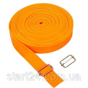 Еластичний джгут спортивний, стрічка джгут TA-3936-10 (латекс, l-10м, 3смх4,5мм, кольори в асортименті)