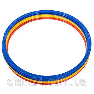 Кольца тренировочные C-0815-60 (пластик, d-60см, в комплекте 12шт., цвета в ассортименте)