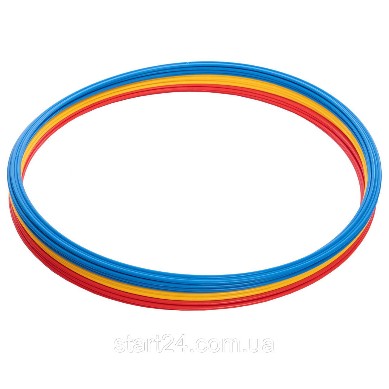 Кільця тренувальні C-0815-70 (пластик, d-70см, в комплекті 12шт., кольори в асортименті)