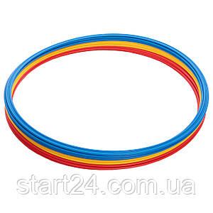 Кольца тренировочные C-0815-70 (пластик, d-70см, в комплекте 12шт., цвета в ассортименте)