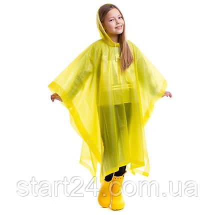 Дощовик дитячий Пончо багаторазовий C-1020 (EVA, зріст 120-160см, кольори в асортименті), фото 2