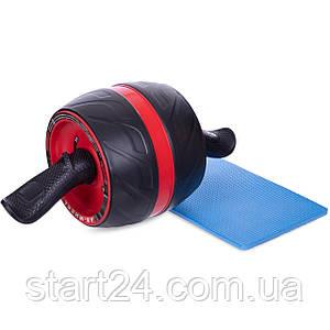 Ролик для пресса с возвратным механизмом Ab Carver Pro FI-5031 (d-19см l-43см, металл, с ковриком,