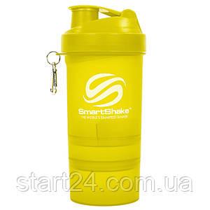 Шейкер 3-х камерный для спортивного питания SMART SHAKER ORIGINAL FI-5053 (400+100+100мл, цвета в