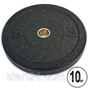 Бамперні диски для кроссфита Bumper Plates з структурної гуми d-51мм Record RAGGY TA-5126-10 10кг