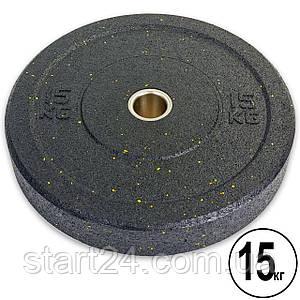 Бамперні диски для кроссфита Bumper Plates з структурної гуми d-51мм Record RAGGY ТА-5126-15 15кг