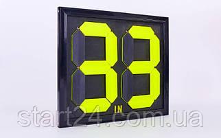 Табло замены игроков С-2911-00 (2x2, металл, пластик, р-р 44x39см, двухсторонее, универсальное)
